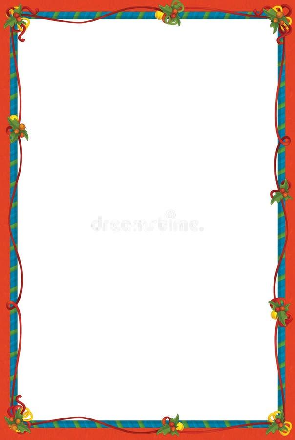 The Christmas Frame - Border - Cartoon Illustration Stock ...