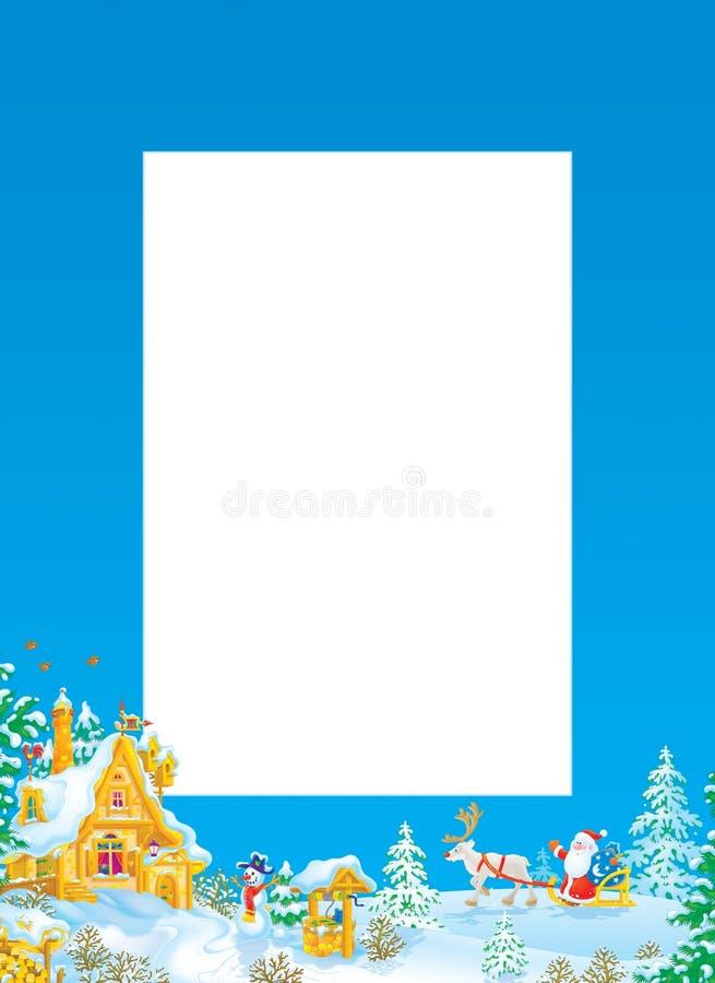 Christmas frame / border with Santa Claus stock illustration