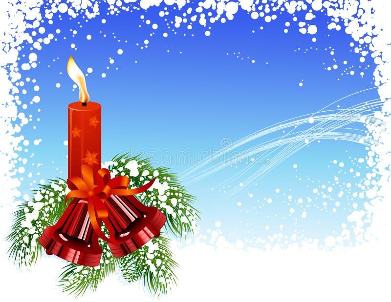Christmas_frame_with_candles vektor abbildung