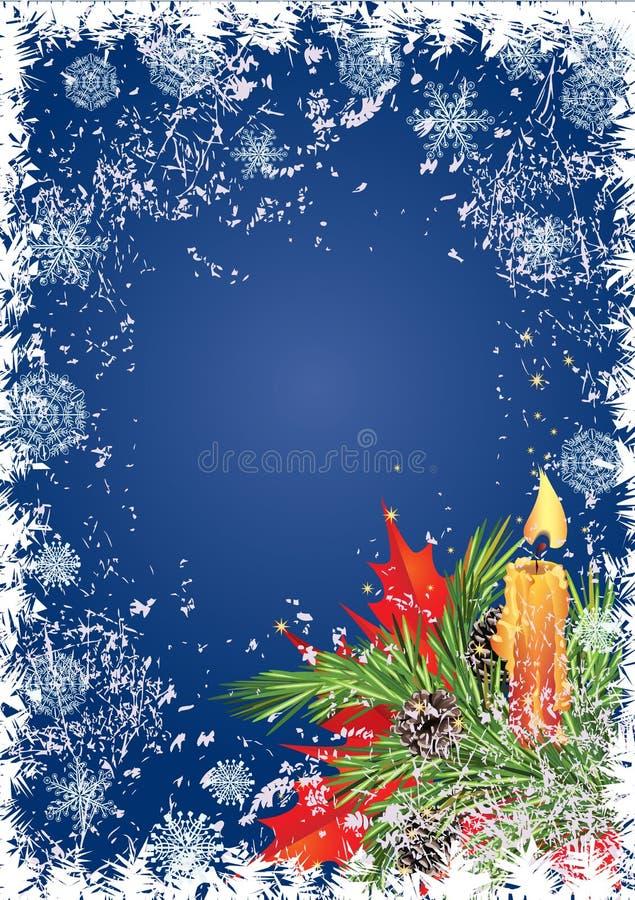 Christmas frame royalty free illustration