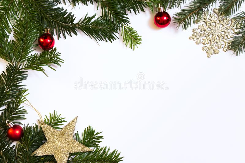Christmas frame with copy space royalty free stock photo