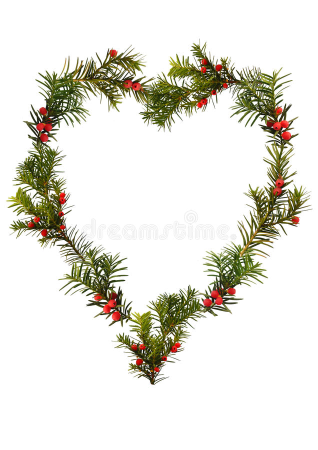 Download Christmas Frame - Floral Heart Stock Photo - Image of green, border: 22042042