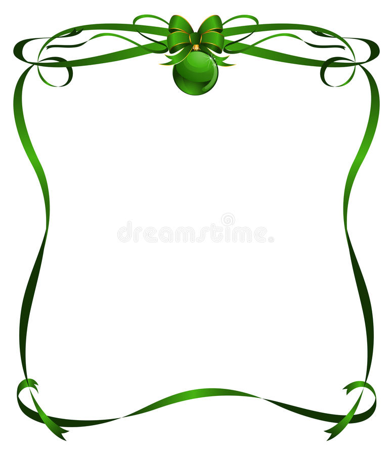 Free Christmas Frame From Ribbons Stock Image - 17259791