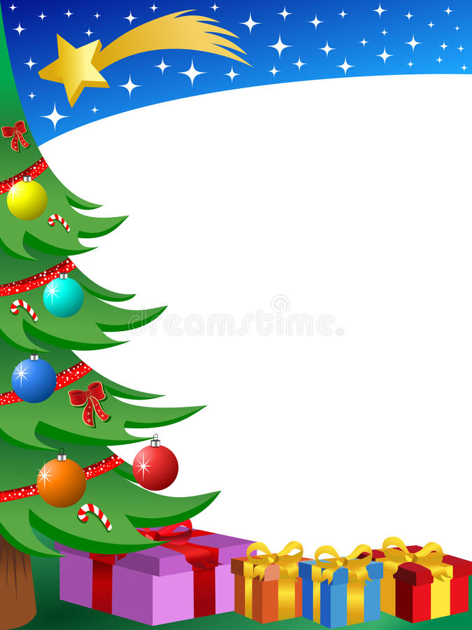 Christmas Tree Frame Stock Images