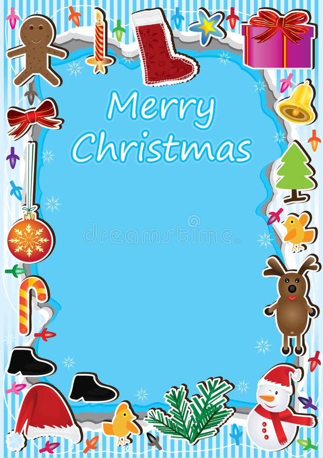 Download Christmas Frame Light Card_eps Stock Vector - Image: 26840988