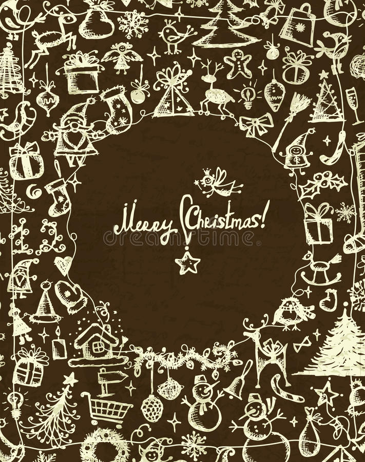 Download Christmas Frame, Sketch Drawing For Your Design Royalty Free Stock Photos - Image: 23516638