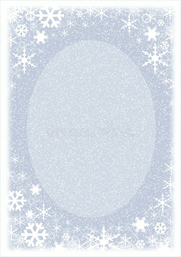 Christmas frame.Snowflakes. stock image