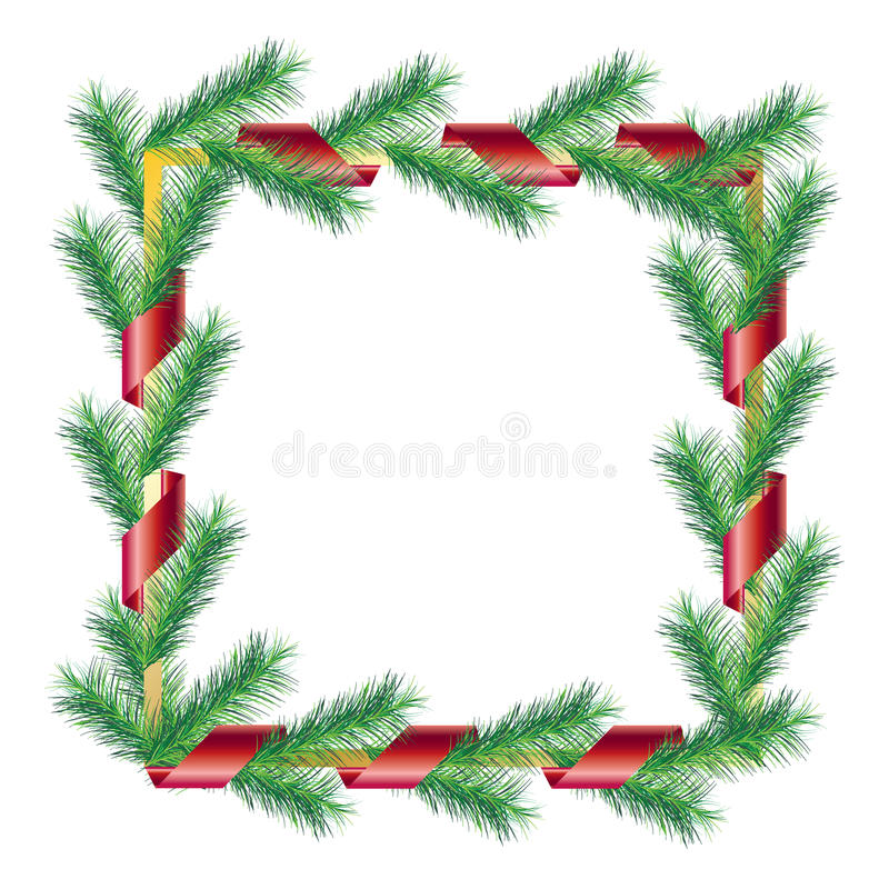 Download Christmas frame stock vector. Image of decoration, celebrate - 81236536