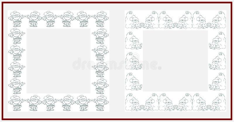 Christmas frame. On white background royalty free illustration