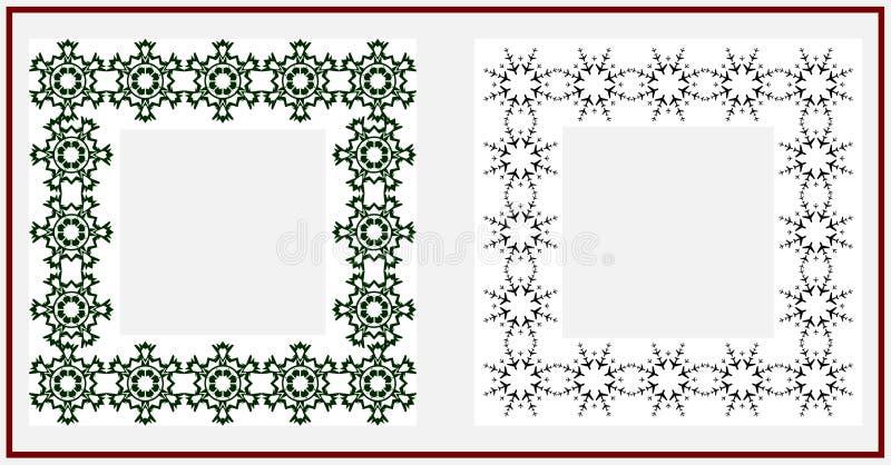 Christmas frame. On white background vector illustration