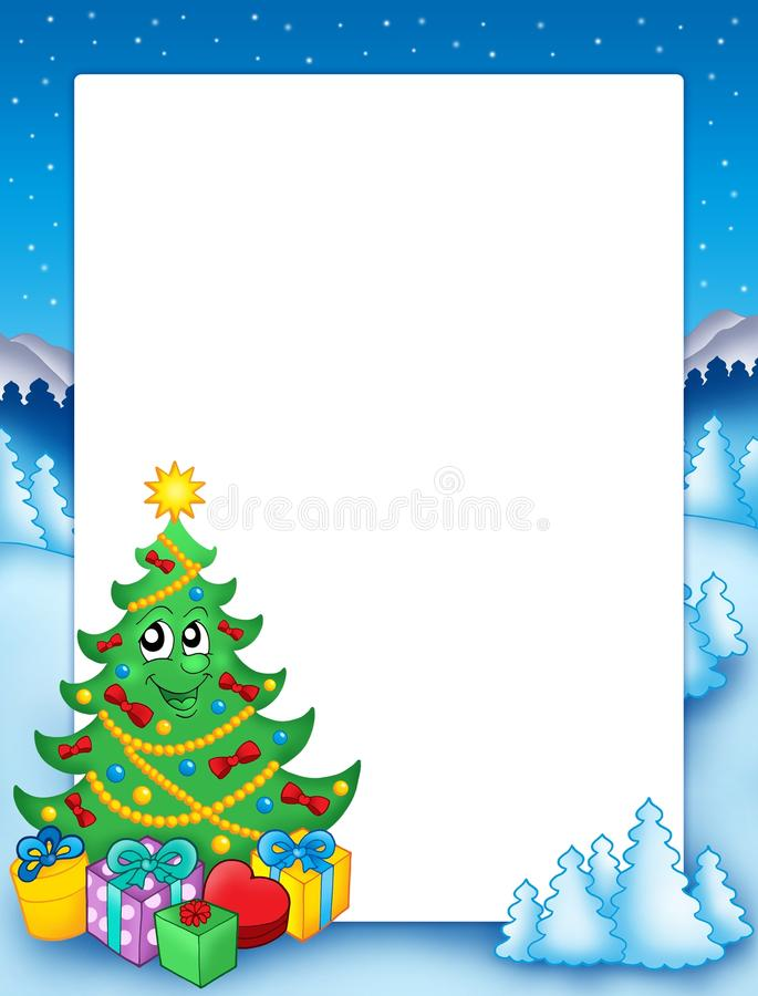 Free Christmas Frame With Tree 1 Royalty Free Stock Photos - 11259188