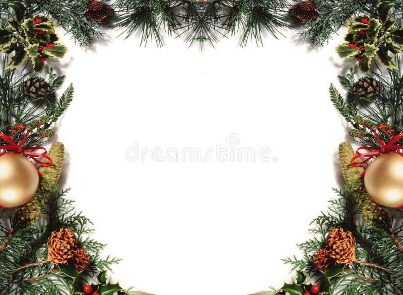 Christmas frame3 stock photo