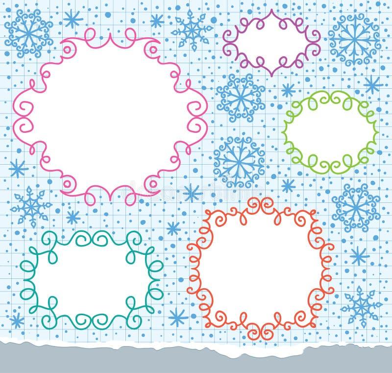 Christmas frames stock illustration