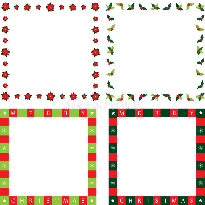 Christmas frames royalty free illustration