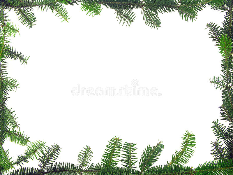 Christmas framework. Composed of fir branches stock illustration
