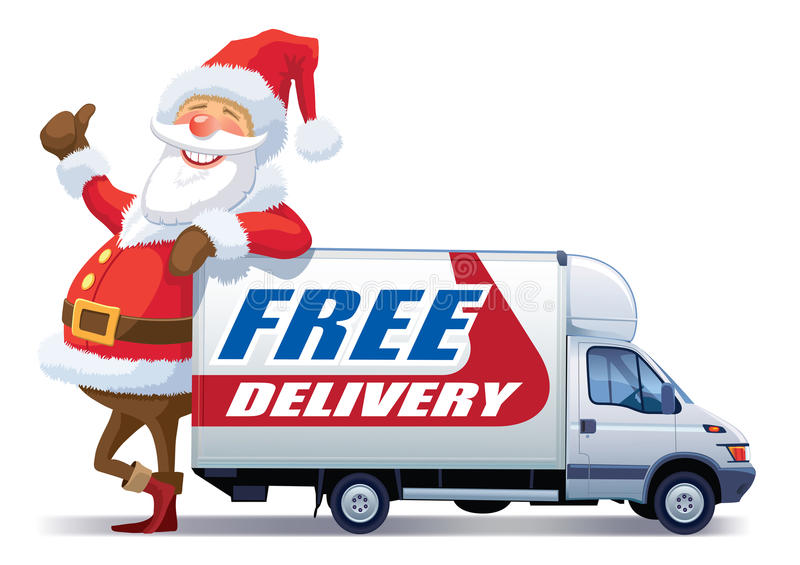 Christmas free delivery royalty free illustration