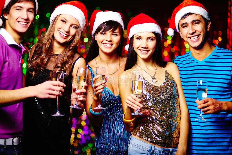 Christmas friends royalty free stock photos
