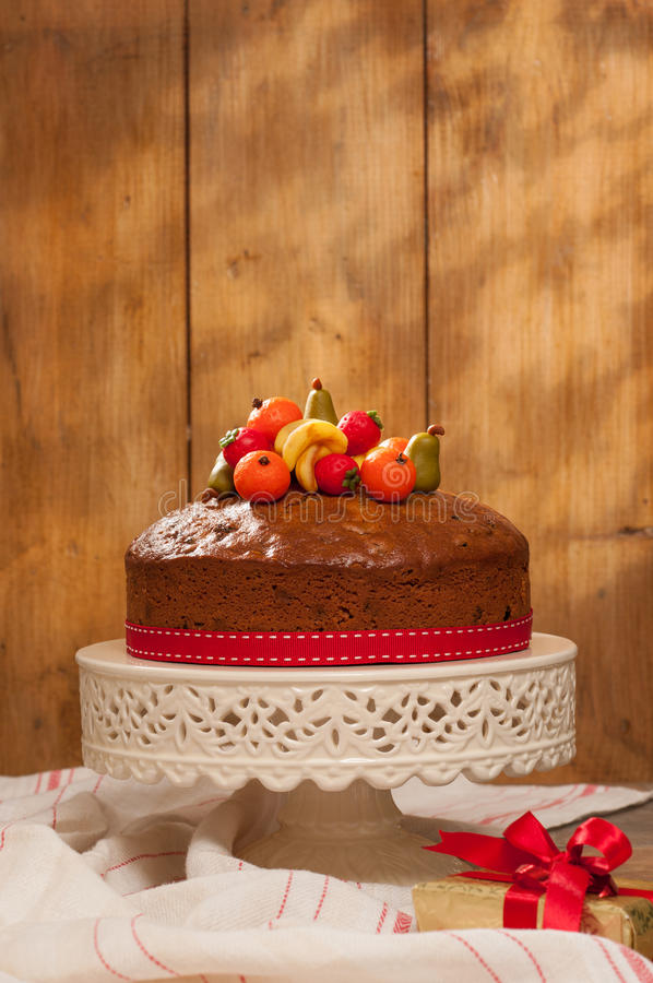 Christmas Fruit Cake royalty free stock image