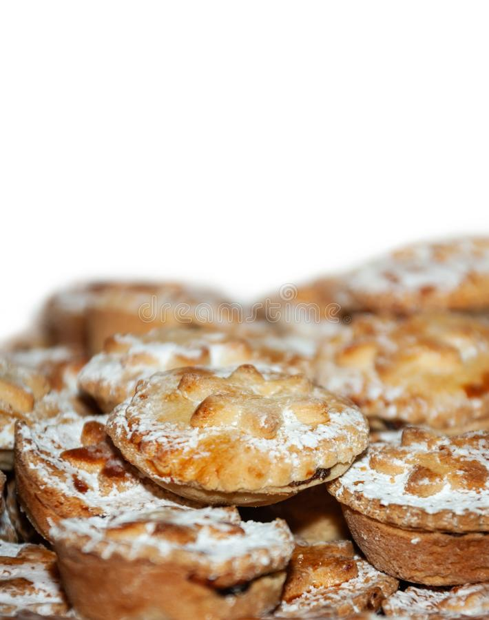Christmas fruit pies royalty free stock photography