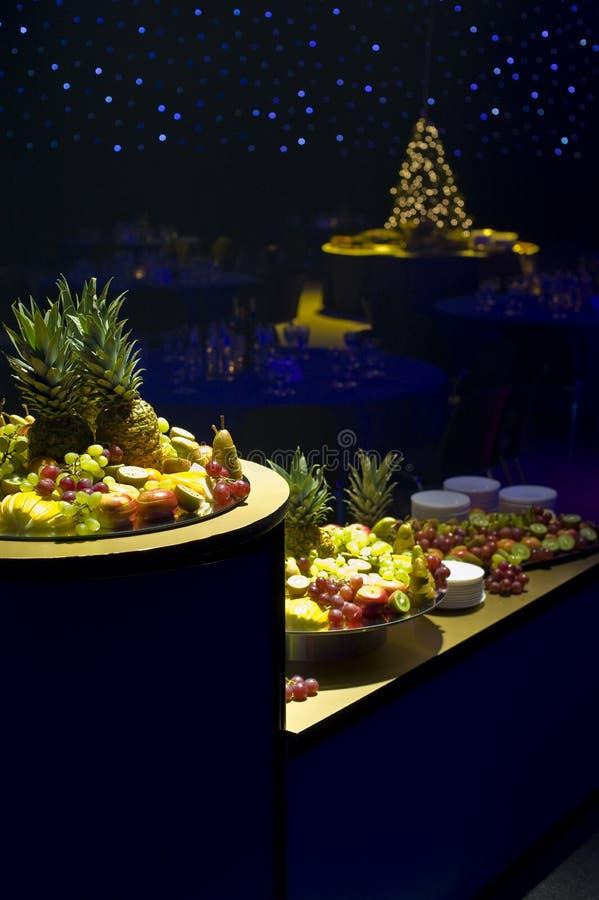 Christmas fruit platters royalty free stock photo