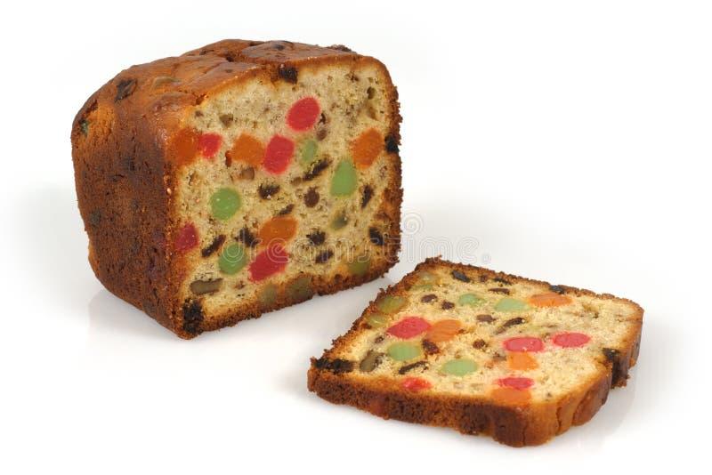 Christmas fruitcake stock images