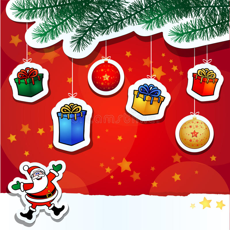 Christmas Funny Background Stock Photo