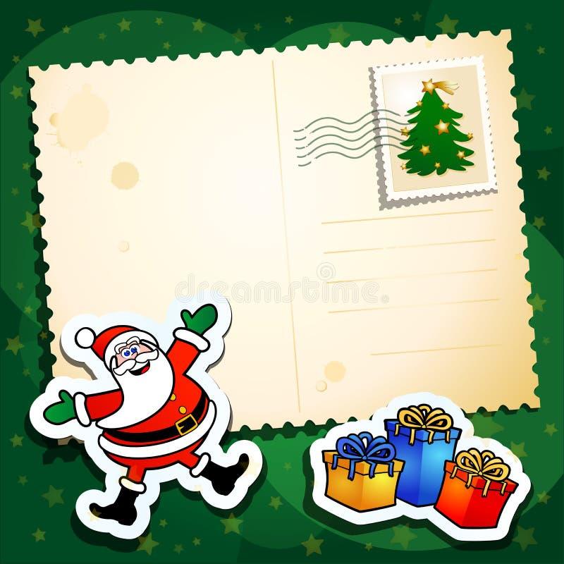 Christmas funny postcard