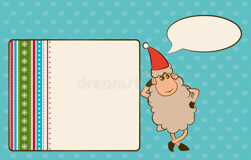 Download Christmas funny sheep stock vector. Illustration of emotion - 22107133