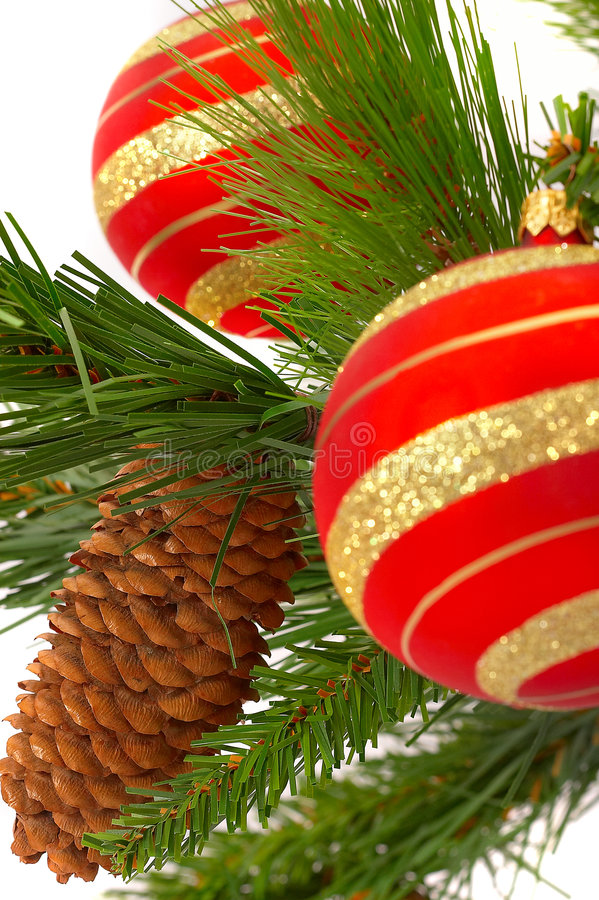 Download Christmas Fir-tree With A Ball Stock Image - Image: 1621123
