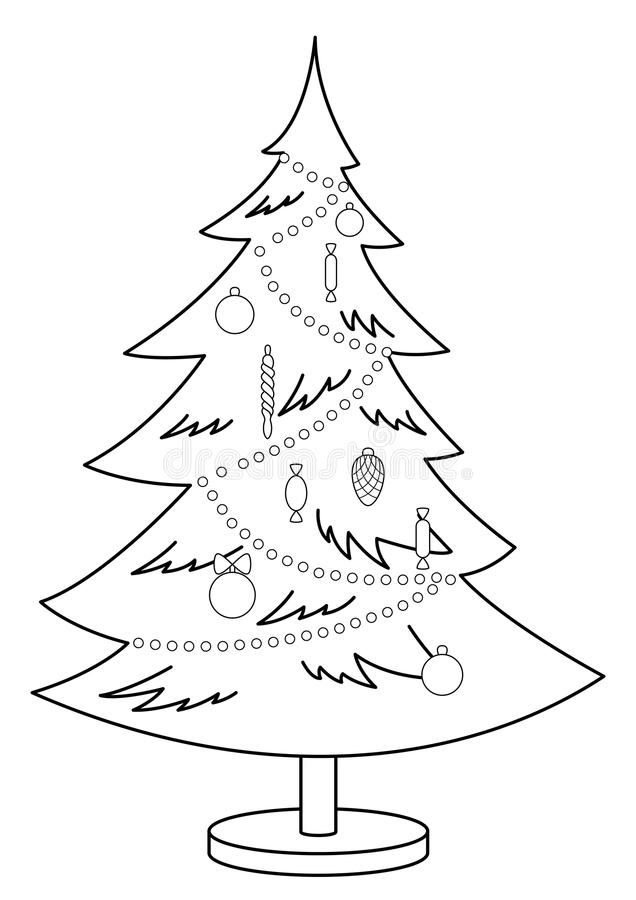 Download Christmas Fur-tree, Contours Stock Vector - Image: 16758993