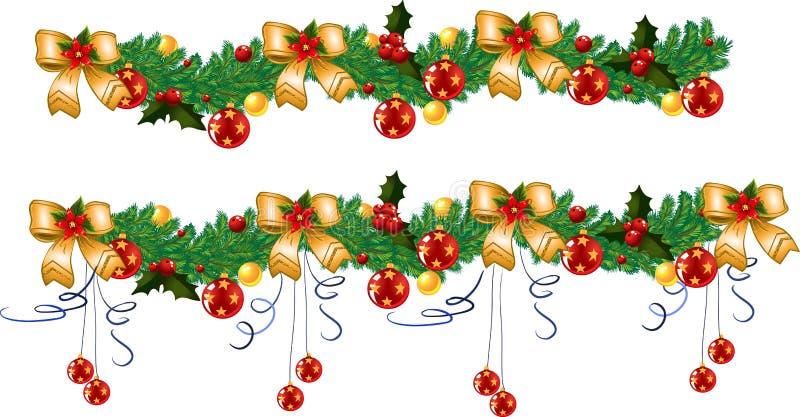 Christmas garland, vector illustration