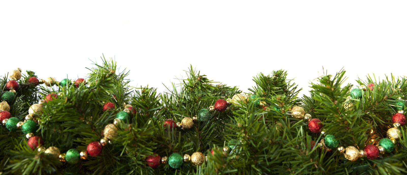 Download Christmas Garland stock photo. Image of nobody, baubles - 15791196