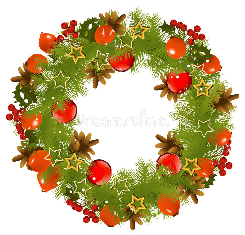 Download Christmas garland stock vector. Image of shiny, round - 22019617