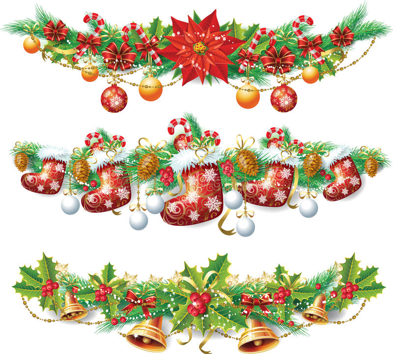 Free Christmas Garland Royalty Free Stock Photography - 27383087
