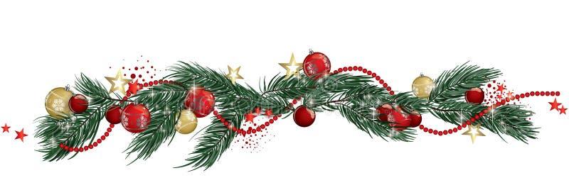 Christmas garland banner vector illustration