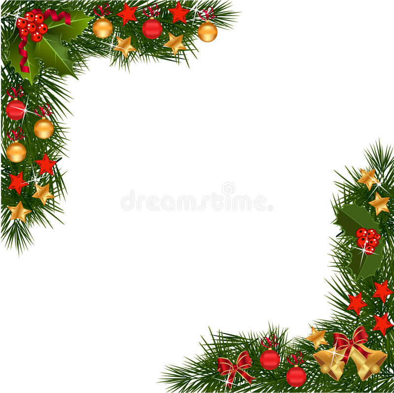 Border Christmas Garland Stock Illustrations 17 500 Border