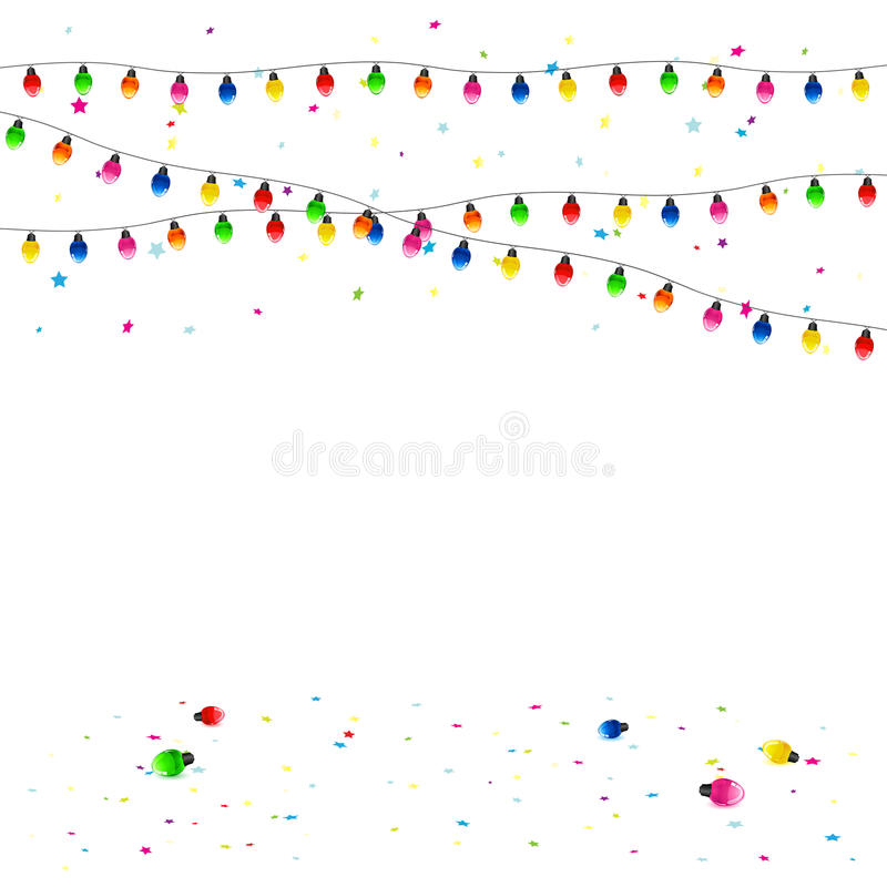 Download Christmas garland stock vector. Image of decoration, holiday - 40382029