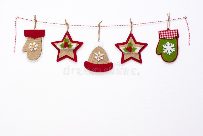 Christmas garland royalty free stock photography