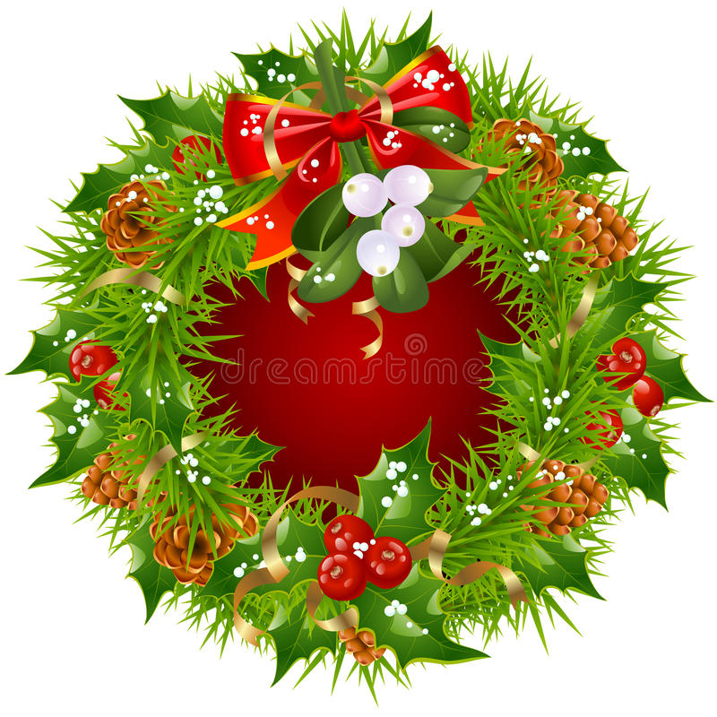 Download Christmas Garland Vector Frame Stock Vector - Illustration: 16857053