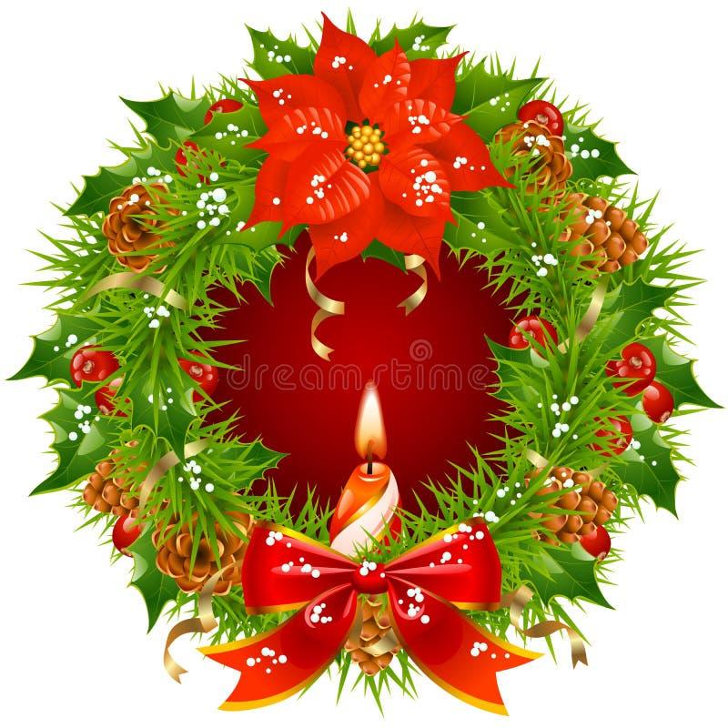 Free Christmas Garland Vector Frame 3 Royalty Free Stock Image - 27182806