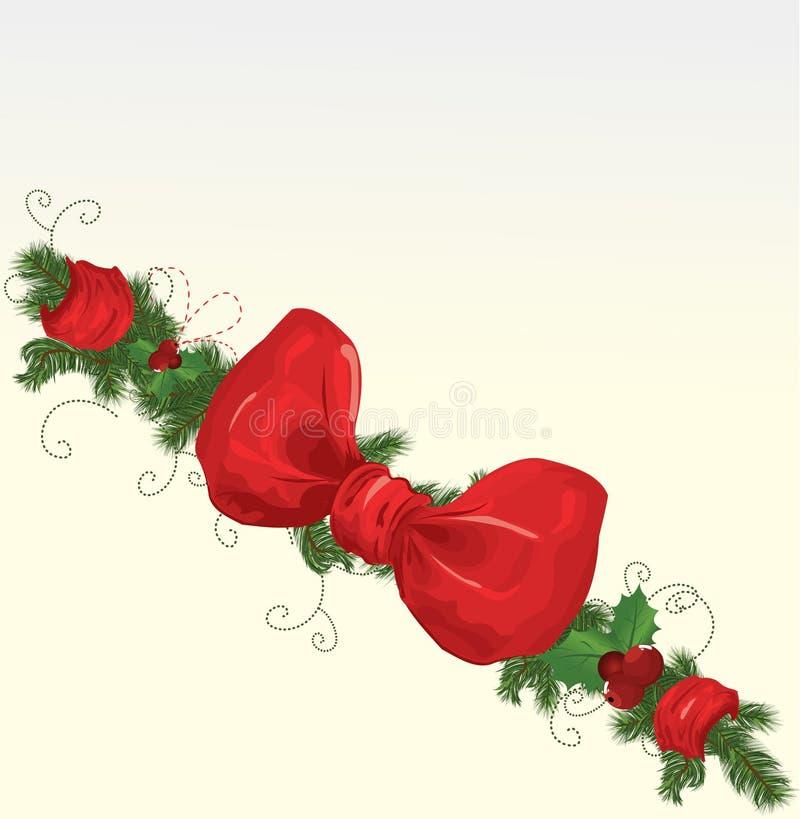 Christmas garlands royalty free illustration