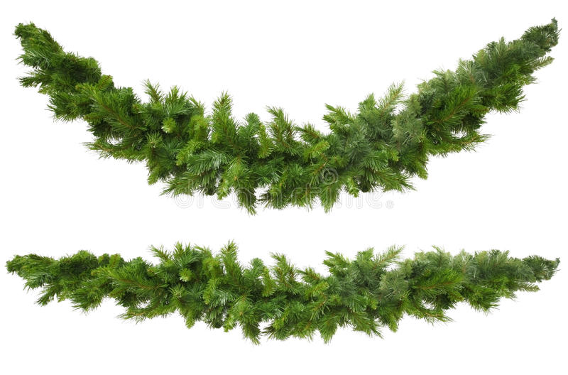 Download Christmas Garlands stock image. Image of holiday, straight - 9755585