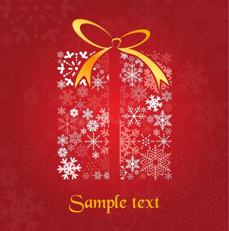 Christmas gift vector illustration