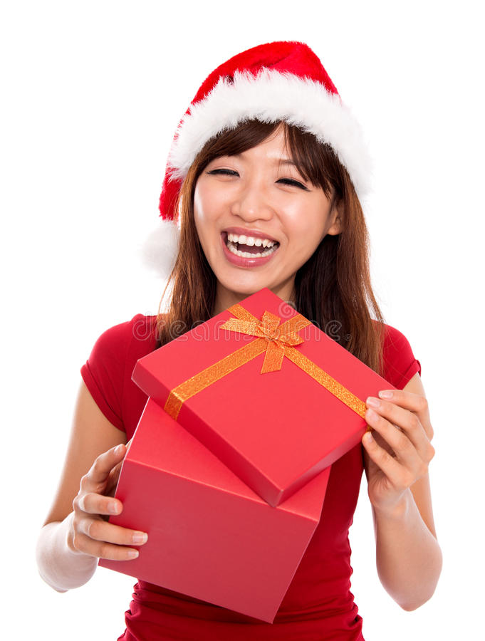 Download Christmas gift stock photo. Image of female, people, holiday - 27757940