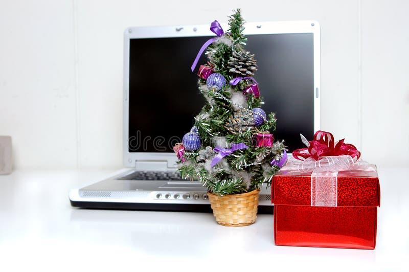 Christmas gift stock photo