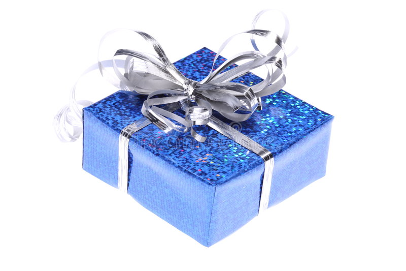 Christmas gift box royalty free stock photography