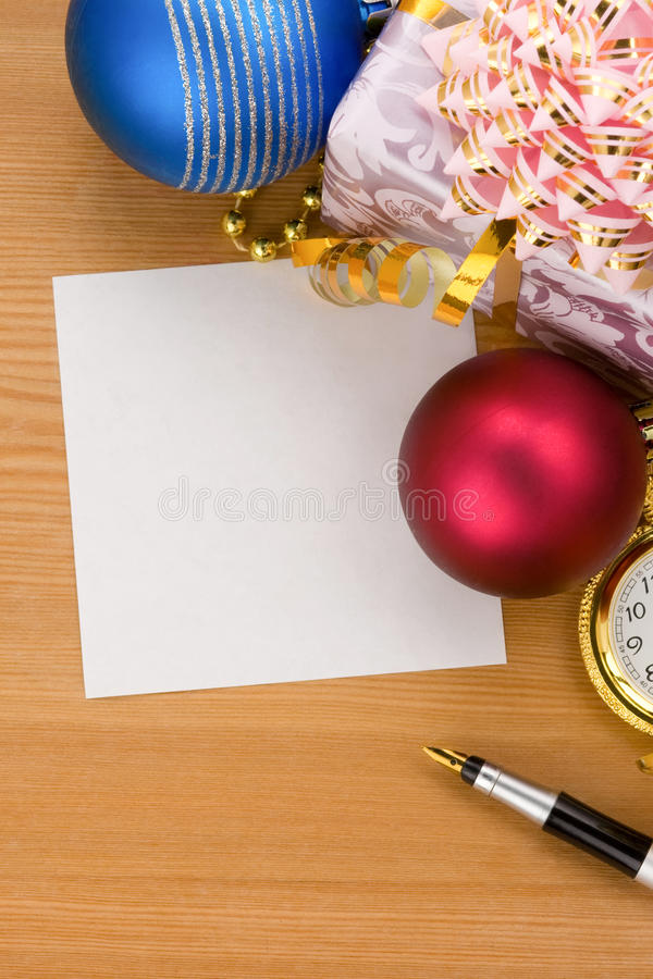 Download Christmas Gift Box With Balls Stock Photo - Image of bauble, bright: 21469516