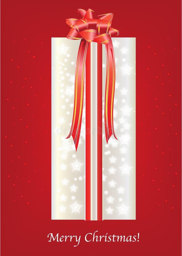 Christmas gift box card royalty free illustration