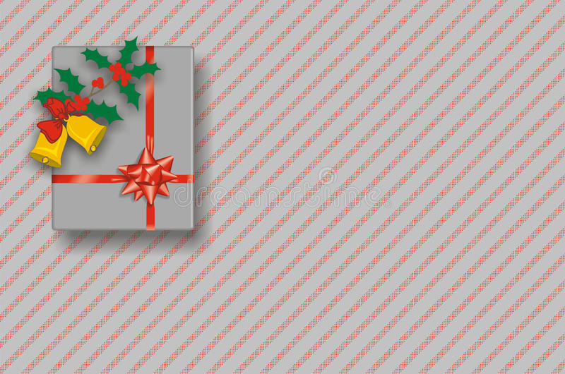 Download Christmas Gift Box On Red And Silver Background Stock Illustration - Illustration of colourful, gift: 11820265