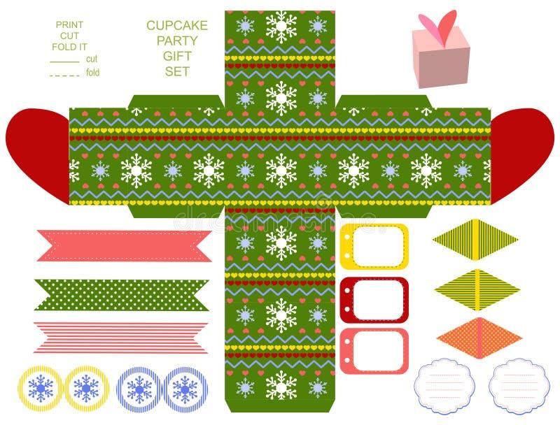 Christmas Gift box template royalty free illustration